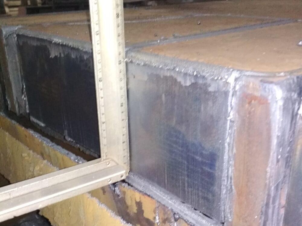 Металл толщиной 160 мм порезанный на чпу станке